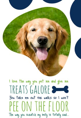 One of the best printable fathers day cards from pets