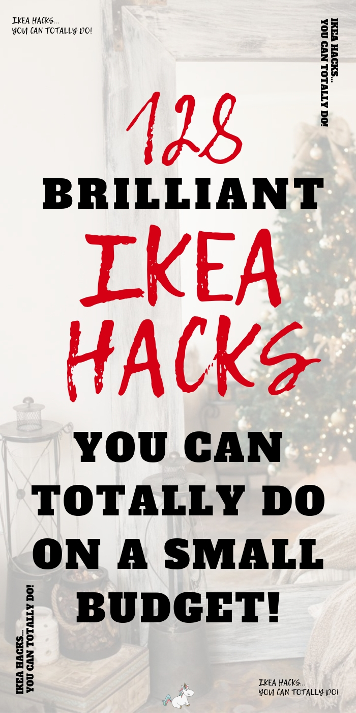 128 Money Saving Ikea Hacks To DIY You Wont Want To Miss! These Ikea Hack Ideas are perfect if you love DIY home decor on a budget #themummyfront