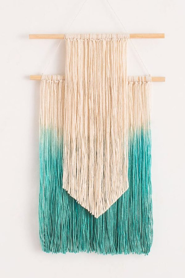 If you're looking for DIY crafts that sell then give this dip dye wall hanging a try