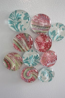 These DIY Glass magnets are the perfect craft to make & sell