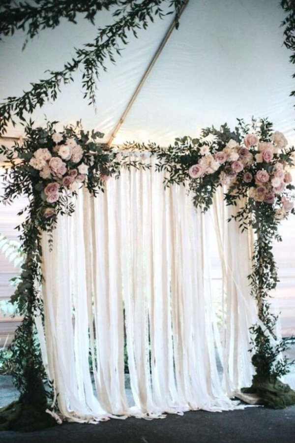 DIY Wedding backdrop