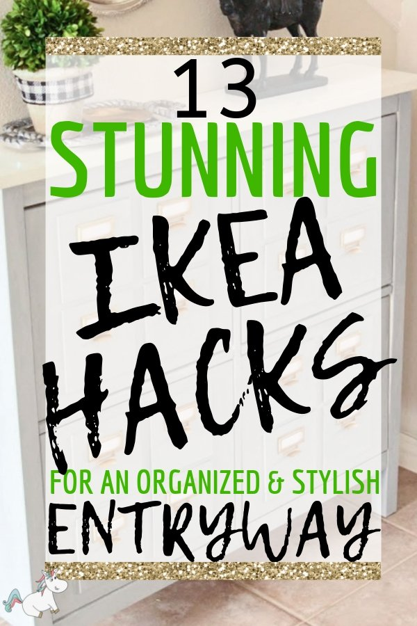 13 Stunning IKEA Entryway Hacks For An Organized & Stylish Entryway... Give the right first impression & a cozy warm welcome with the incredible Ikea Hacks That will make your hallway loook amazing... even if you have a small entryway! Click to be inspired #themummyfront