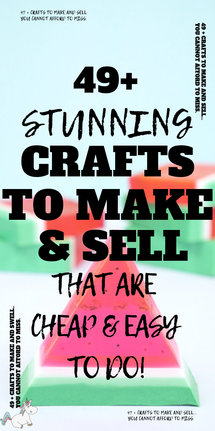 49+ Stunning Crafts To Make and Sell That Are Cheap & Easy To Do! If you want to make money from home or just want some extra cash then these easy DIY projects to sell are a great place to start! #themummyfront