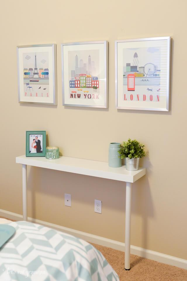 This narrow sideboard is one of the best Ikea entry hacks for small hallways