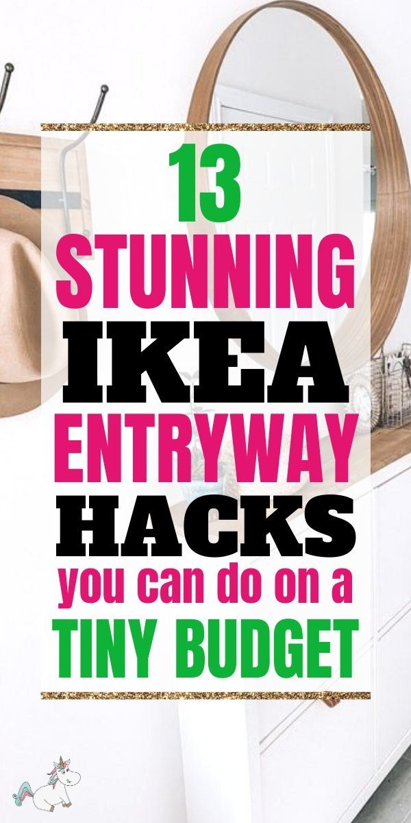 13 Stunning Ikea Entryway Hacks you can do on a Tiny Budget! Home Improvement just got a whole lot easier (and cheaper) with these Ikea Hacks that will get your entryway organization nailed on a nice small budget! Don't miss them! #ikeahacks #ikeahack #homeimprovement