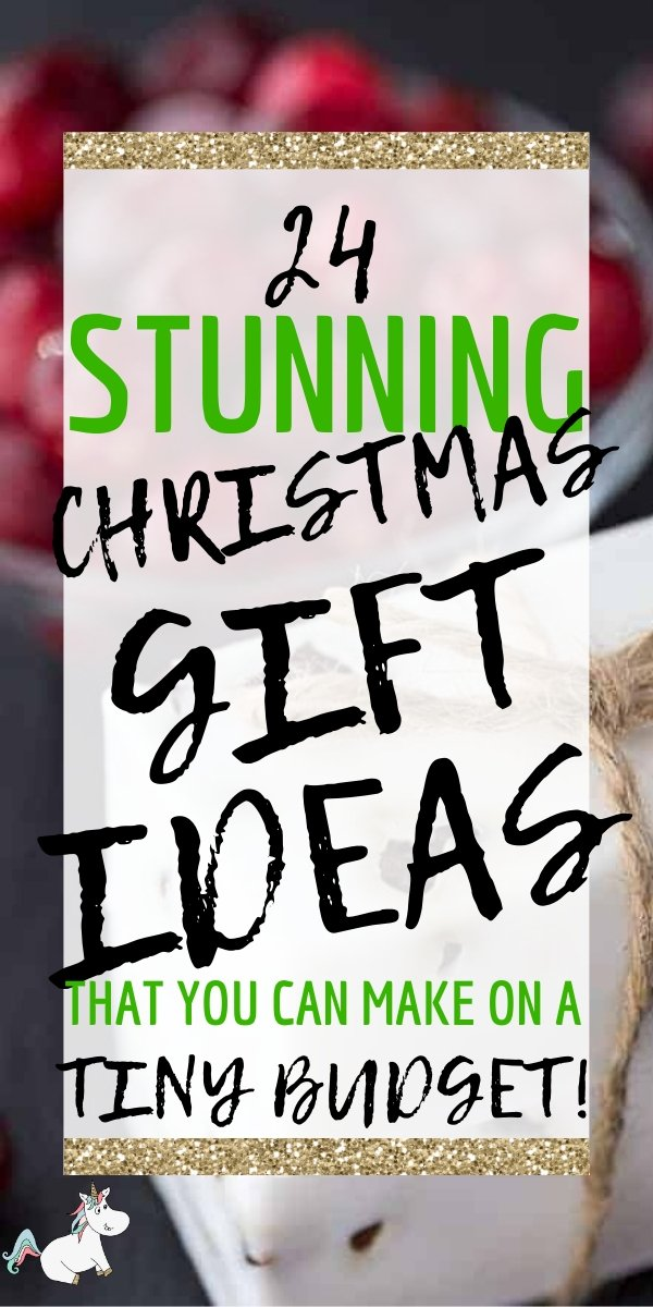 24 DIY Christmas gifts like these are the answer when you want to give meaningful gifts that you're friends & family will love without breaking the bank!