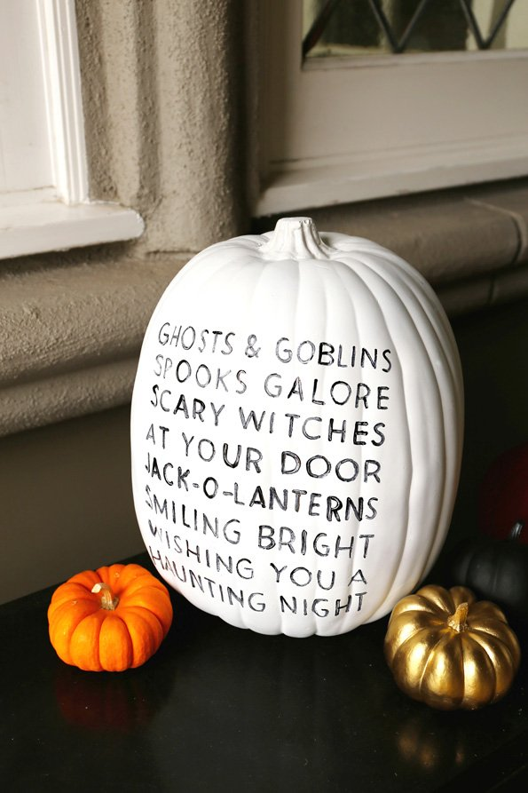 This painted pumpkin is one of the best DIY halloween decorations to try this year