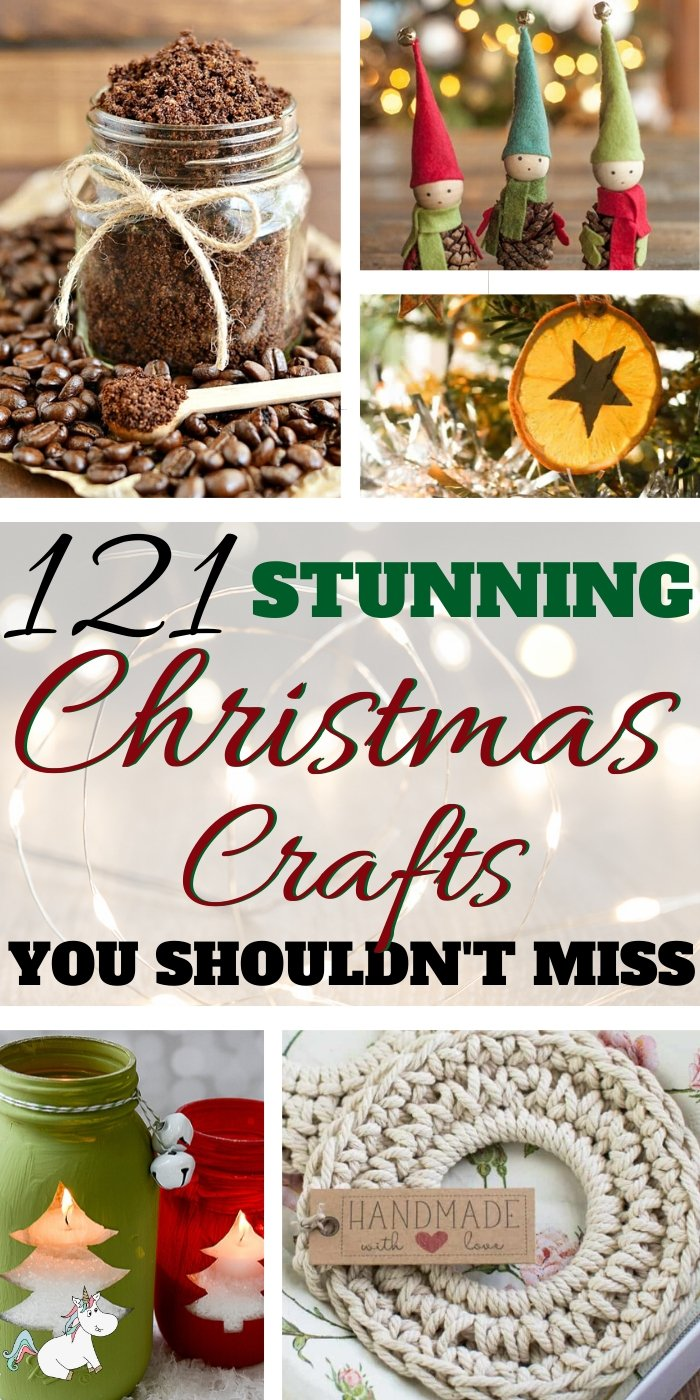 121+ Stunning DIY Christmas Ideas You Can Make on Small Budget! Christmas is the perfect time to get creative and make memories with your family and these Festive DIY ideas are the perfect way to do that! Click on the pin to see all these amazing Christmas crafts in one place.