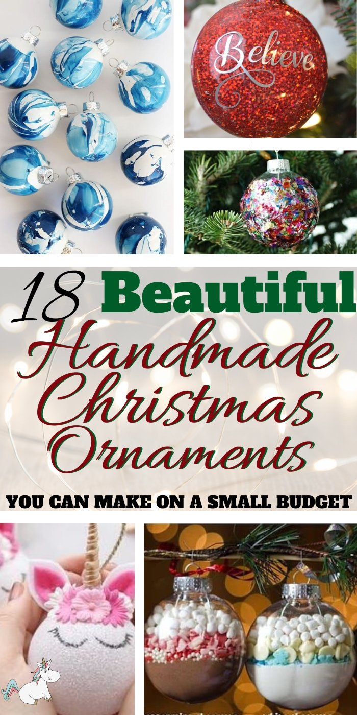 18 Beautiful Handmade Christmas Ornaments You Can Make On a Budget! If you're looking for some beautiful Christmas Ornaments then look no further than these stunning festive DIY baubles I've found for you today... from snowman ornaments the kids can help create to stunning pearl ornaments, you'll find the perfect Christmas decoration for your tree in this list... Click for all the inspo #themummyfront