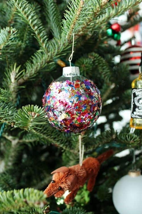 glitter xmas bauble