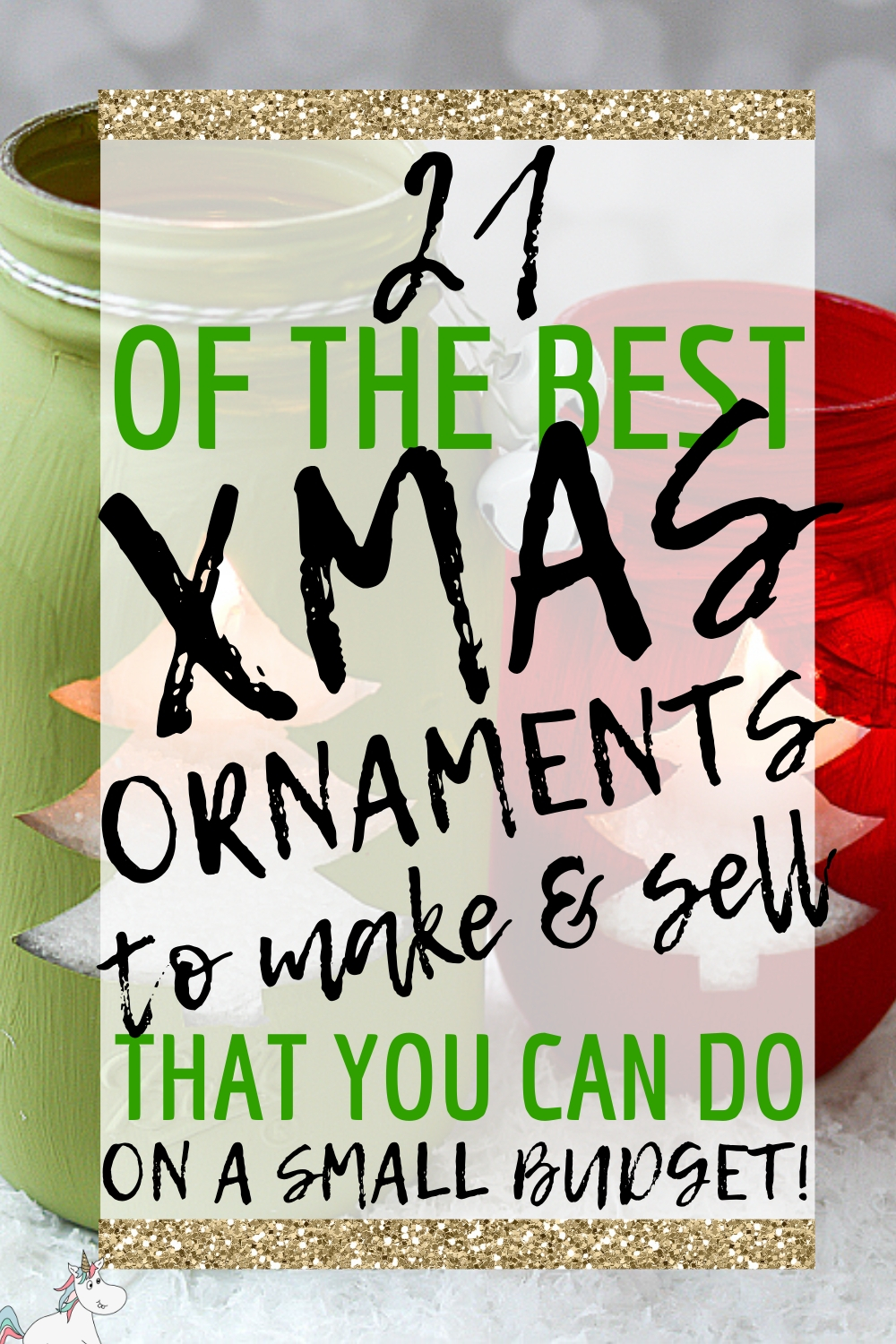 21 of the Best Xmas Ornaments to Make and Sell That Your Can Do on a Small Budget! Are you looking to make some extra cash this Christmas? Then look no further than these DIY Christmas Decorations you can make and sell for profit... they're all cheap to make and proven to be really popular! Click the pin to see all the ideas. #themummyfront