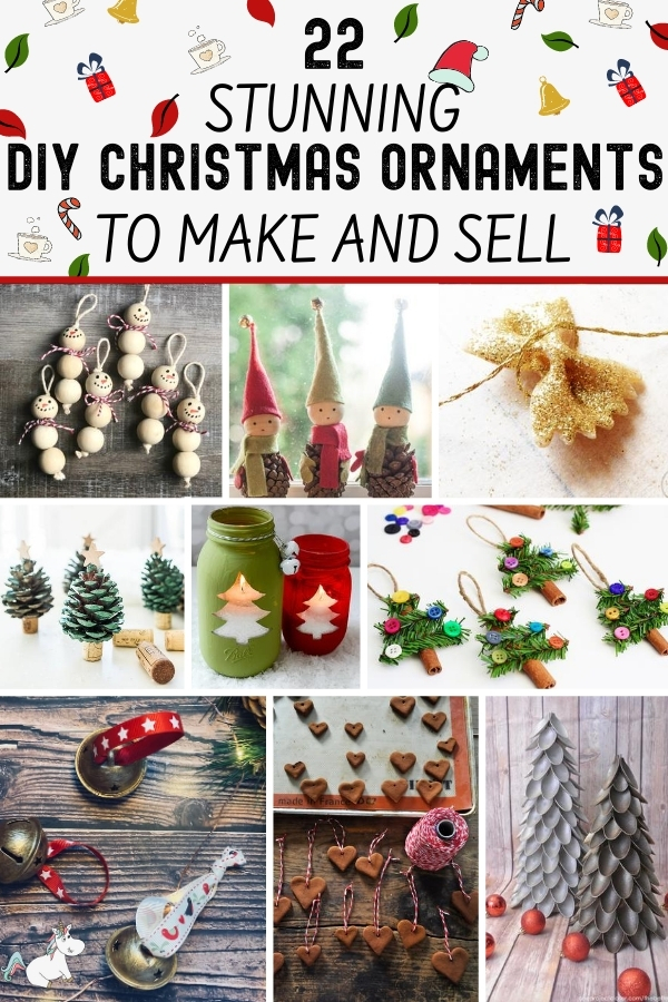 22 of the Best Easy Christmas Ornaments to Make and Sell That Your Can Do on a Small Budget! Are you looking to make some extra cash this Christmas? Then look no further than these DIY Christmas Decorations you can make and sell for profit... they're all cheap to make and proven to be really popular! Click the pin to see all the ideas. #themummyfront