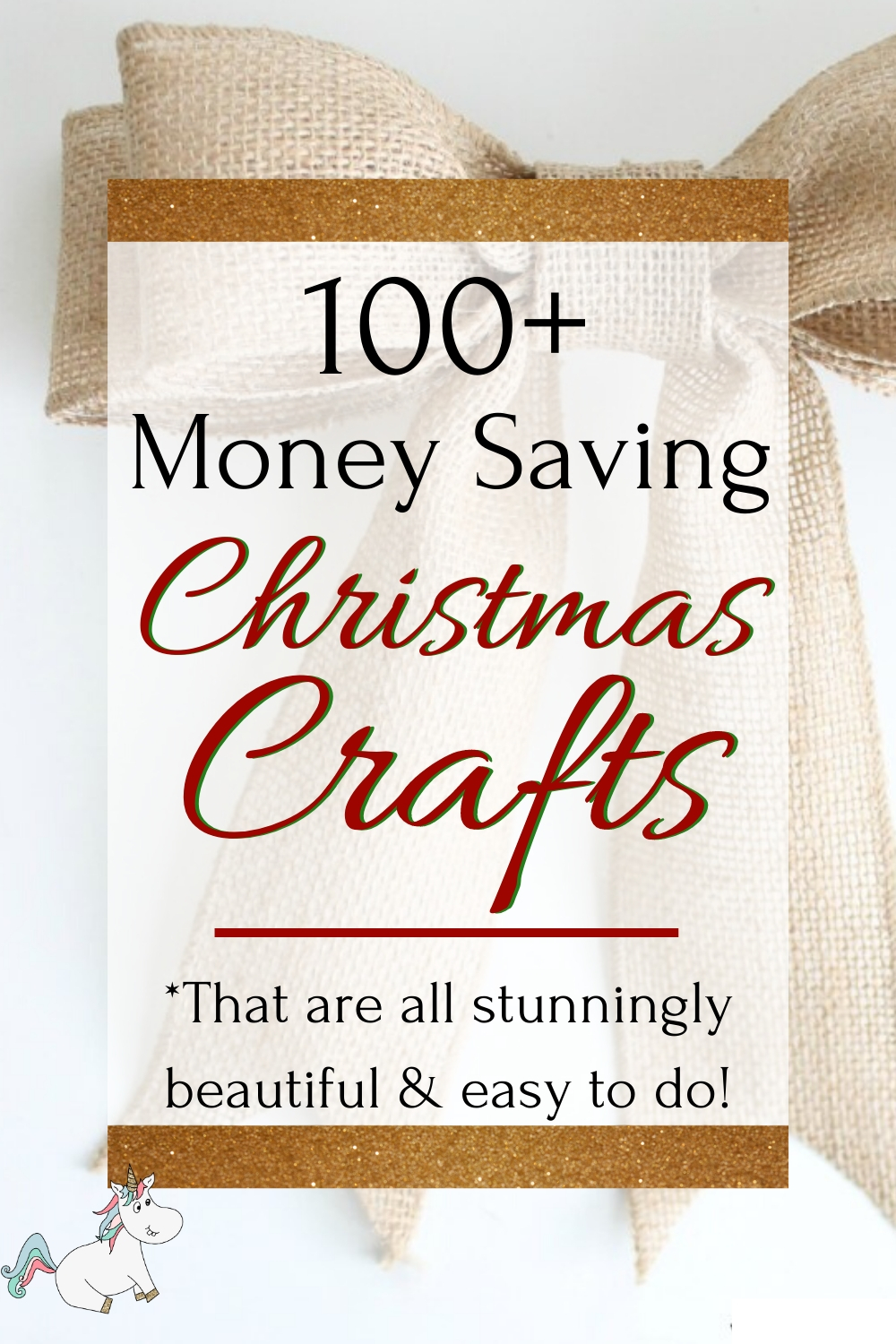 100+ Money Saving Christmas Crafts That are Stunningly Beautiful and easy to do! Whether you're looking for the perfect gift wrapping ideas or the best diy Christmas ornaments for your tree, this post has got you covered! You'll find Christmas wreaths, Tree decorations, handmade gift ideas and so much more. Click here to get all the inspiration