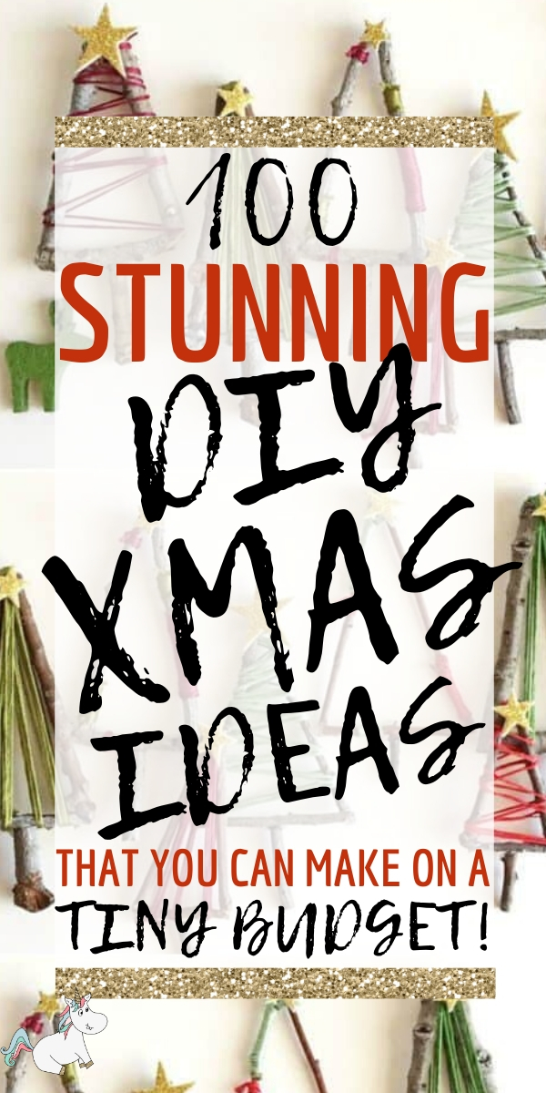 100 Stunning DIY Christmas Ideas You Can Make on Small Budget! Christmas is the perfect time to get creative and make memories with your family and these Festive DIY ideas are the perfect way to do that! Click on the pin to see all these amazing Christmas crafts in one place.