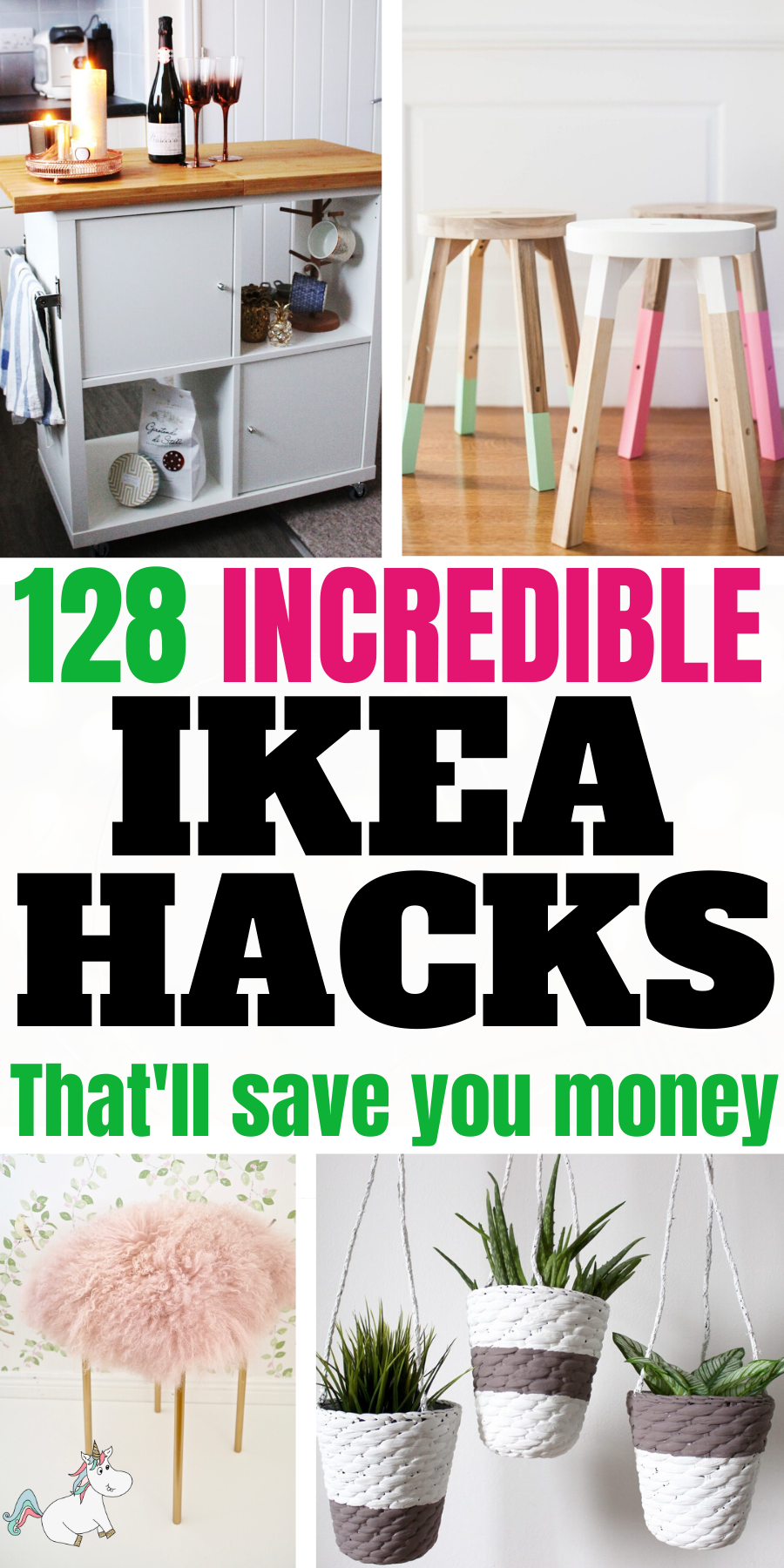 128 Incredible DIY IKEA Hacks That'll Save You Money... Do you love DIY budget home decor? Then be sure to check out these Ikea Hack ideas that are all cheap and easy to do yet will leave your home looking beautiful & unique too! #themummyfront
