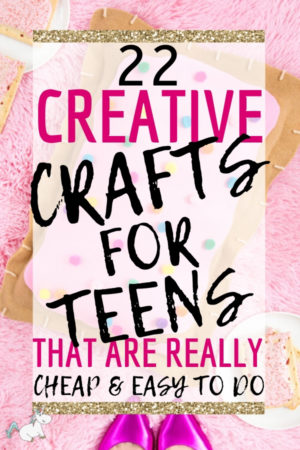 22 Creative Crafts For Teens That Are Really Cheap & Easy to do! Get your teen busy and lift her spirits with these bright, colourful crafts that she can make for herself or to give as gifts to her friends. These teenager crafts are also perfect if you're looking for crafts to make and sell online! #teenagercrafts #craftsforteens