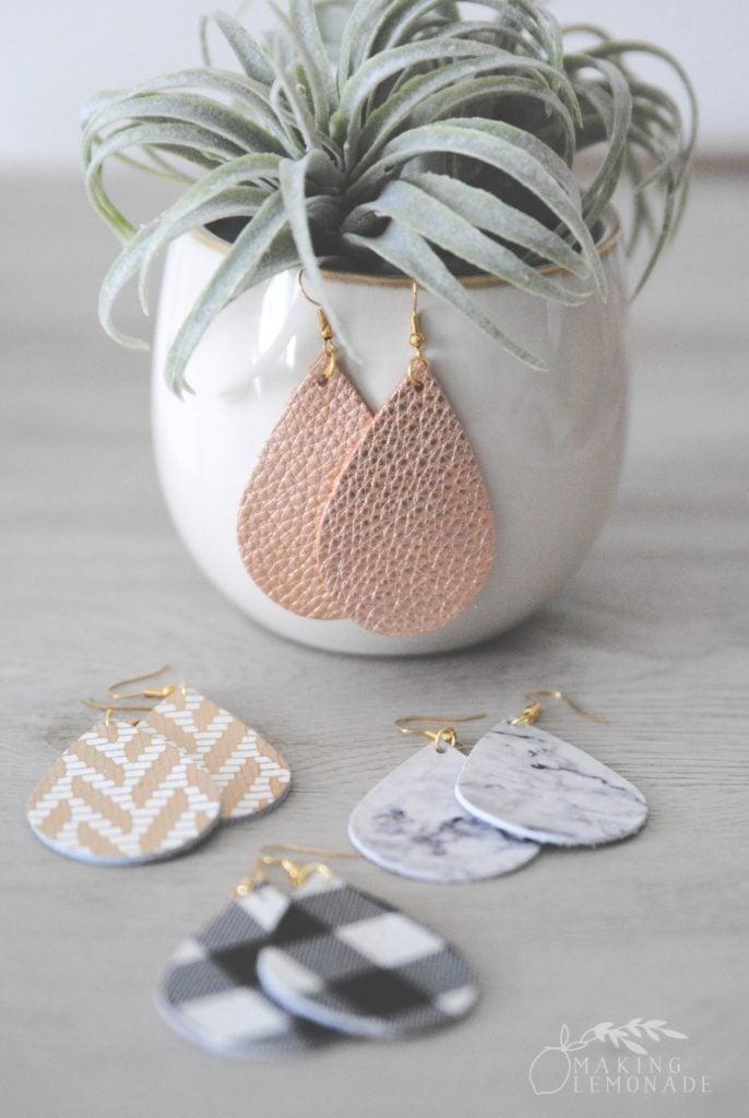 DIY Leather Diffuser Earrings