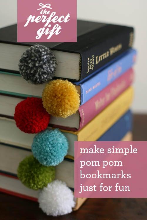 The Perfect Gift: Yarn Ball Pom Pom Bookmark