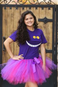 This Cheshire Cat costume is one of the Easiest DIY Halloween costumes for women!