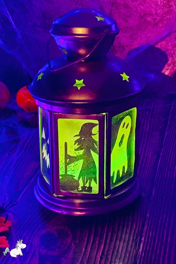 Hang your spooky Halloween lantern either inside or outside and enjoy!