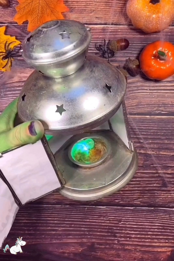 light up your lantern with glowing balls or glowsticks