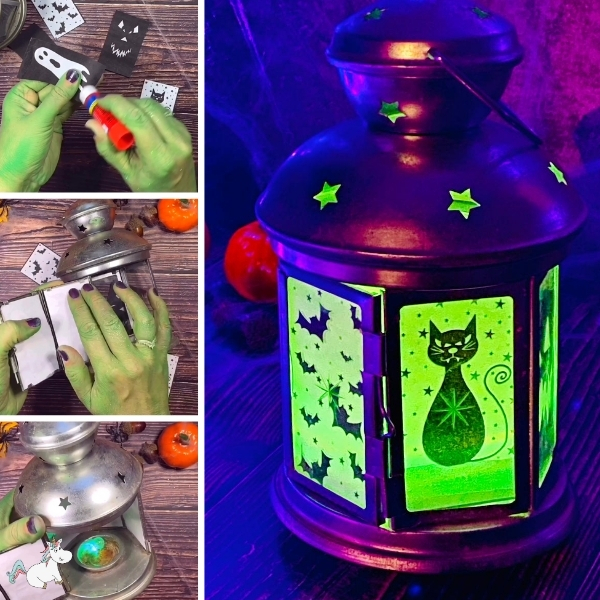 Easy DIY Halloween lantern Made in Less than 10 Minutes