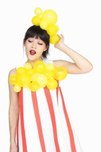 This popcorn Halloween costume is an easy option for women
