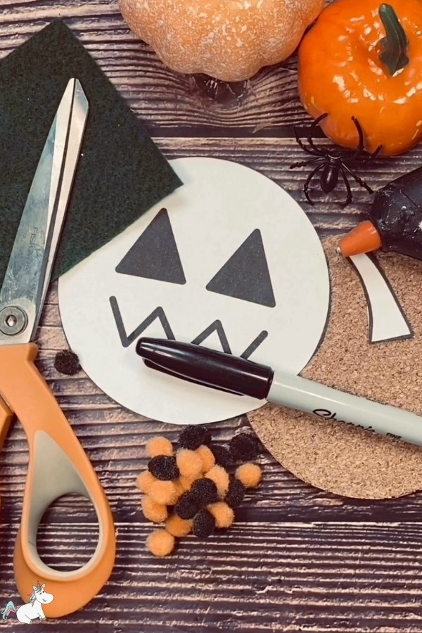 DIY Pumpkin Coaster supplies