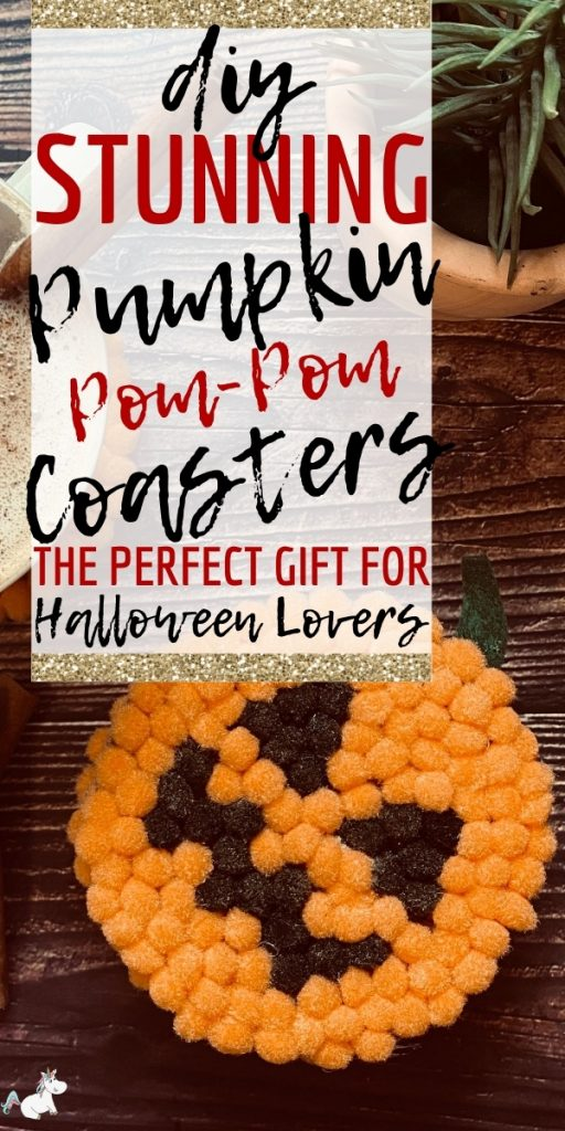 Stunning DIY Pumpkin Coasters! Have you been wondering what a great gift for Halloween lovers could be? Well look no further than these super adorable Halloween coasters.. it's the perfect DIY Halloween gift idea that every one will love to receive! #halloween #halloweendiy #diyhalloween #pumpkincrafts