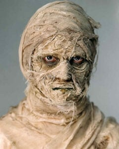 This scary Mummy costume is very easy to DIY