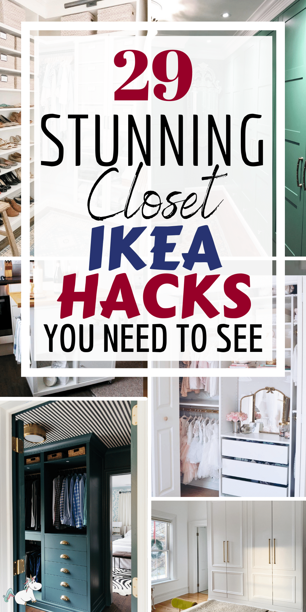 IKEA closet hacks are the perfect solution if you're looking for a unique closet for your home that fits all your storage requirements. It can be really difficult to find an inexpensive storage solution that solves all your storage and organizing problems… That is until you discover IKEA closet hacks of course!