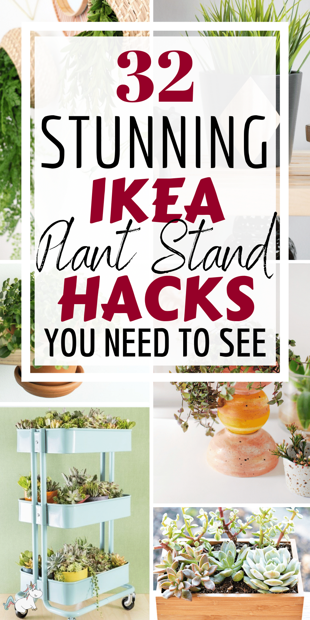 Are you ready for some stunning ikea hacks for plants? Here is a list of 32 IKEA plant stand hacks you will seriously love. They're the perfect DIY plant stands that you can make on a budget but look chic and stylish too! From window shelf planters, plant carts, succulent box planters and wall hanging planters... you'll be sure to find the perfect pDIY planter for your plants! Check them out today! #ikeahacks #planthacks #plantideas #ikeahacks
