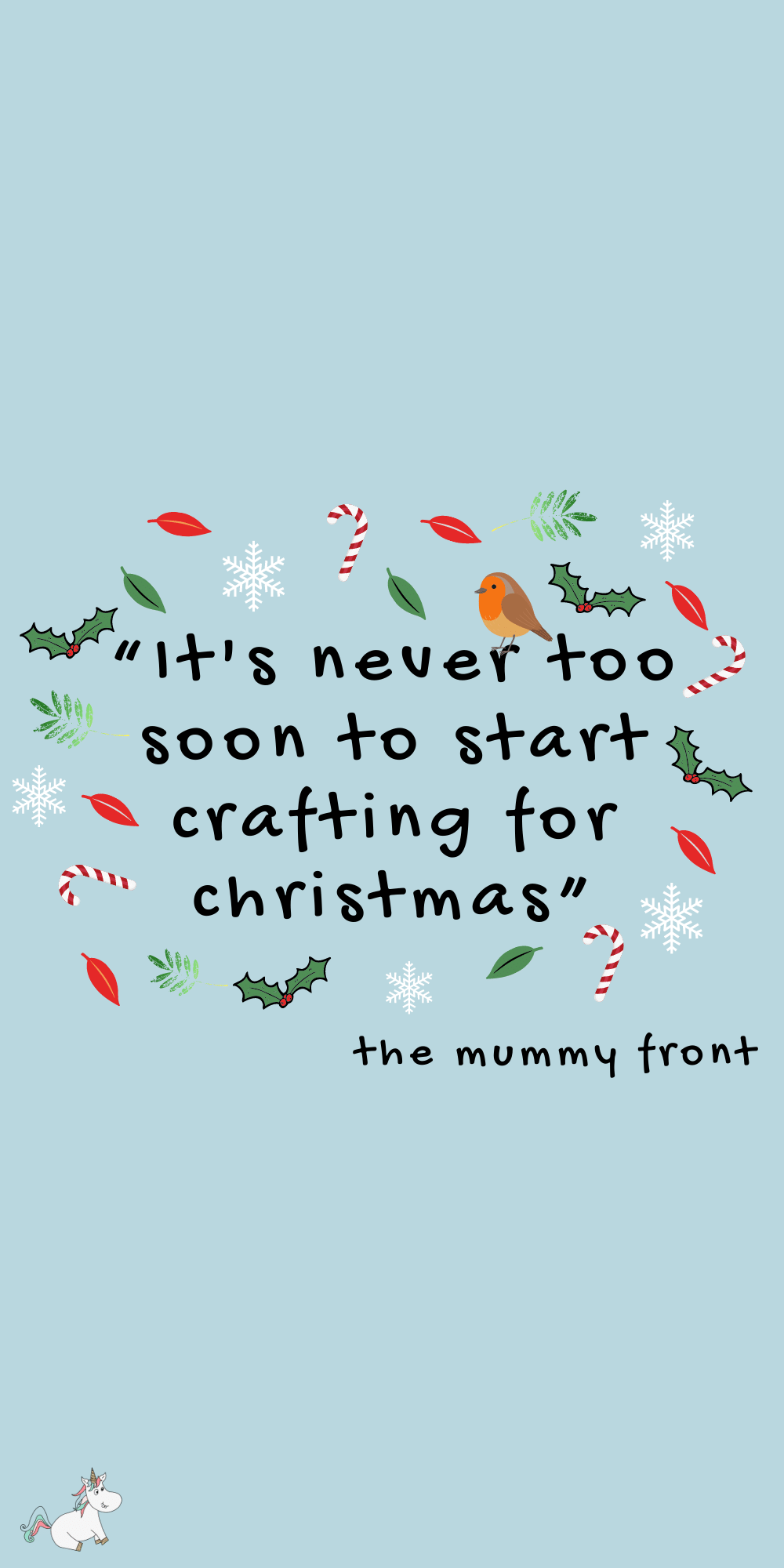 It's never to soon to start crafting for Christmas Quote