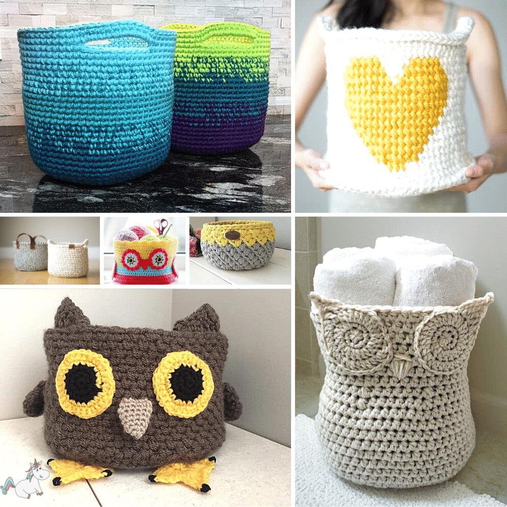 10 Easy Crochet Basket Patterns