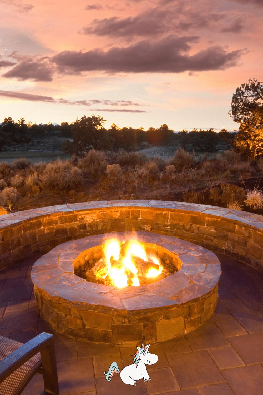 Stunning fire pit