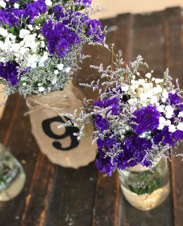 Country Chic Mason Jar Vases