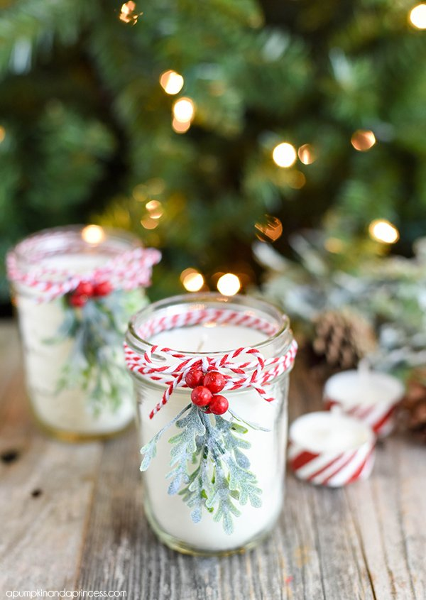 DIY peppermint candles