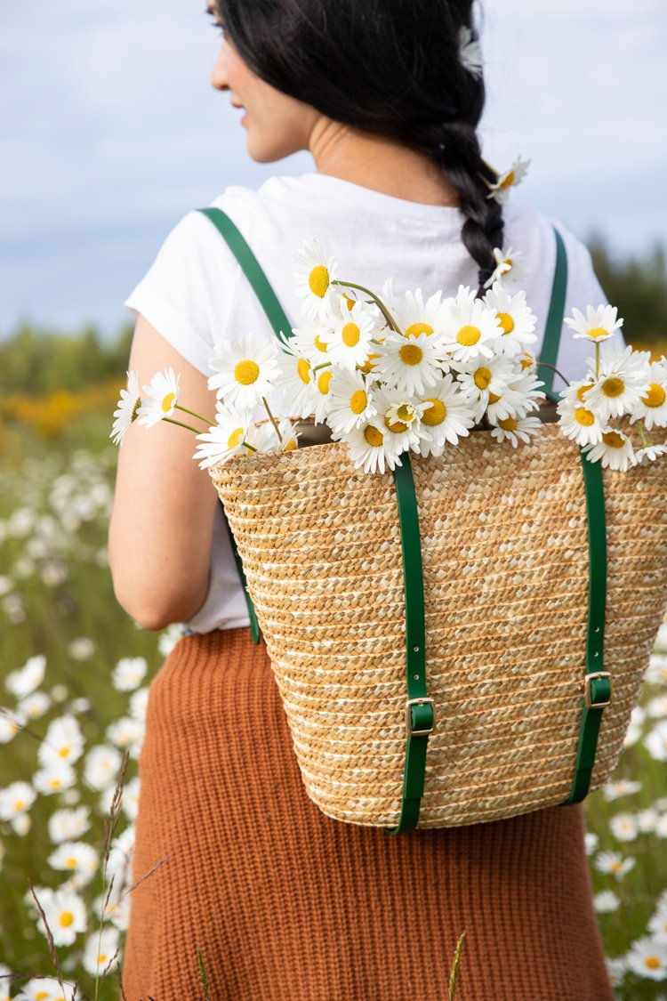 Adorable DIY Basket Backpack