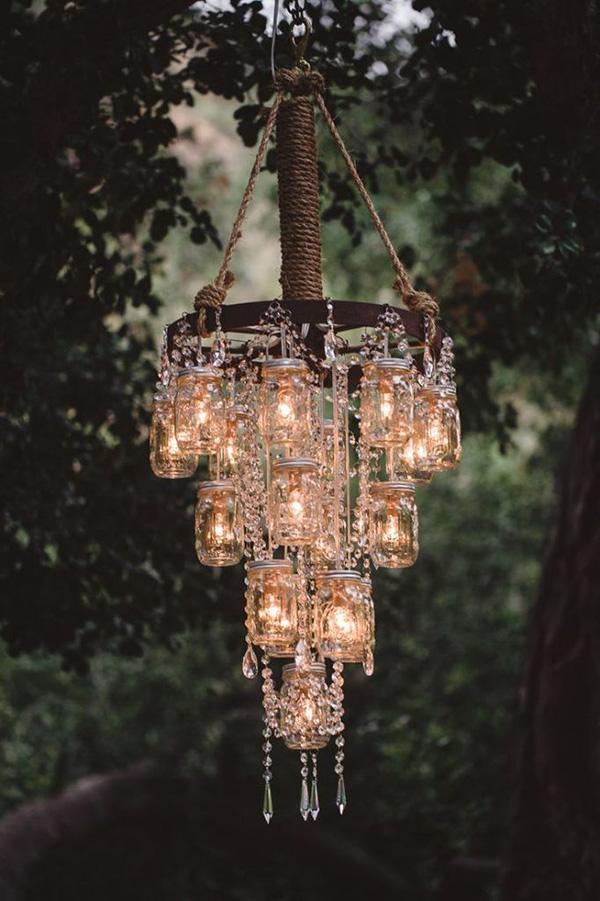 Stunning Mason Jar Chandelier