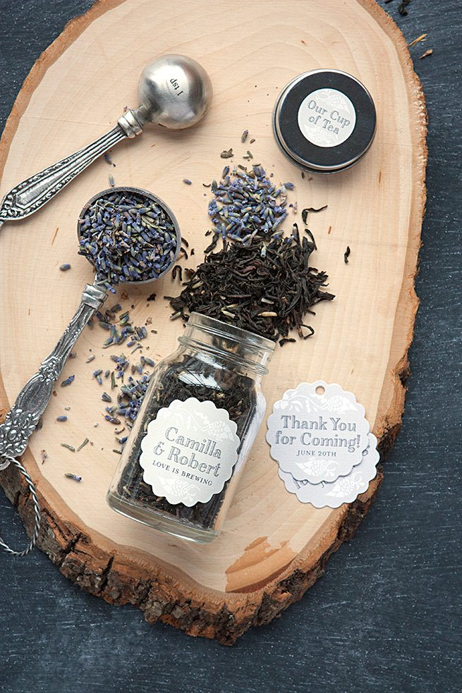 Tea Blend Wedding favors in mason jars