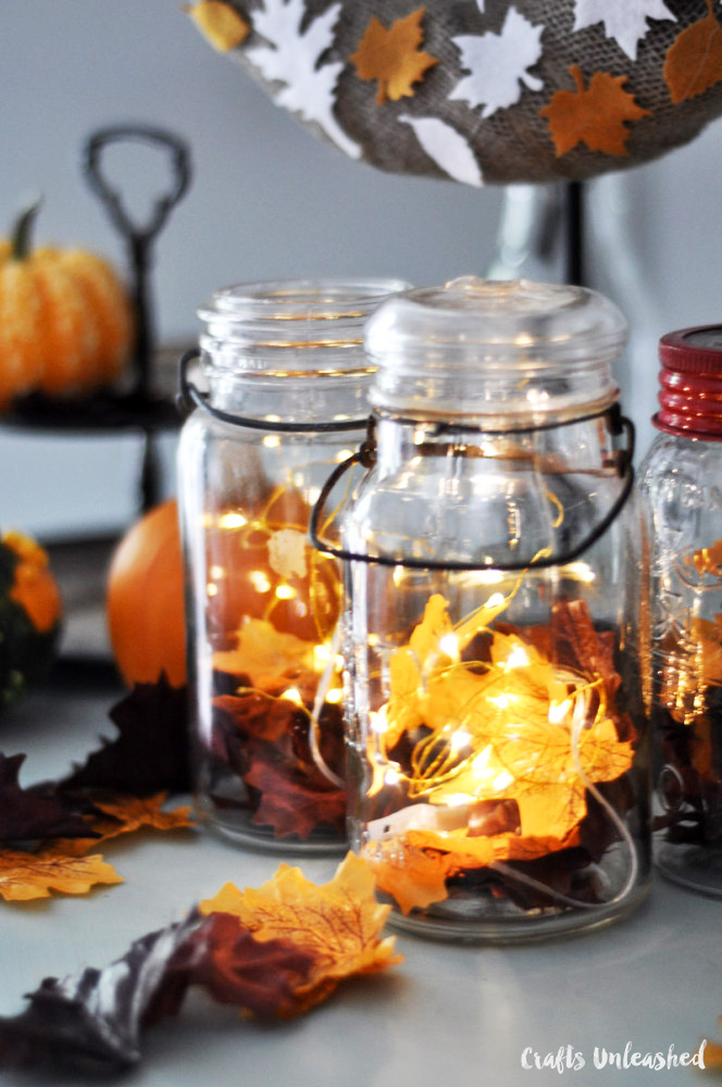 DIY fall mason jars are one of the easiest mason jar wedding ideas that can be made on a budget