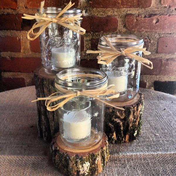 Mason Jar Candle Holder Centerpieces