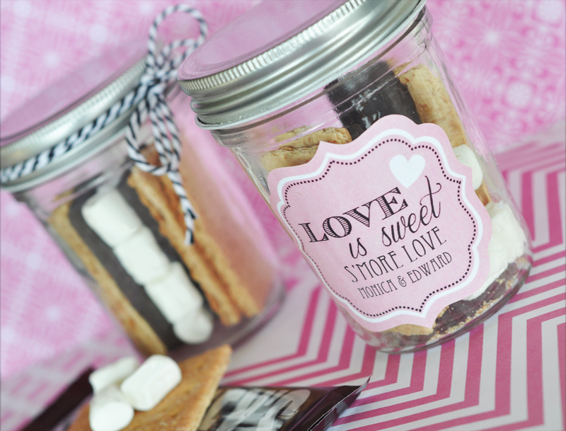 Smores in mason jars are one of the easiest diy wedding mason jar ideas!