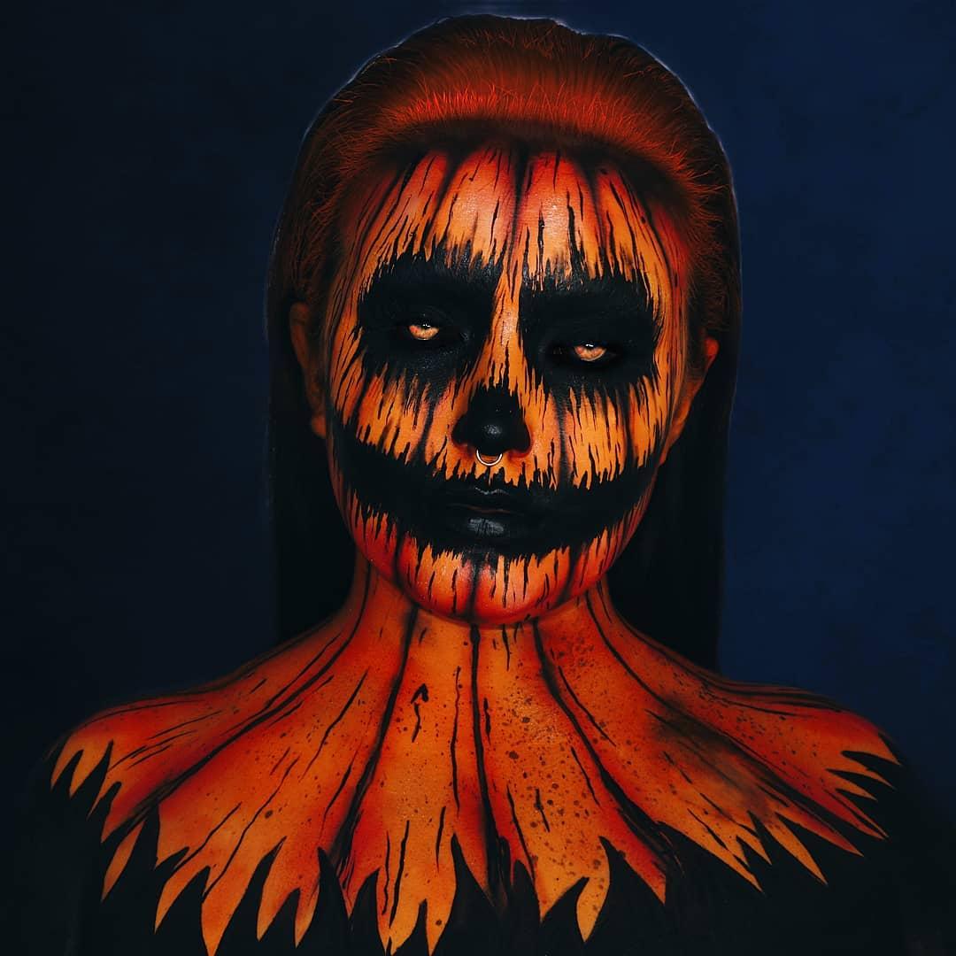 Scary Pumpkin makeup