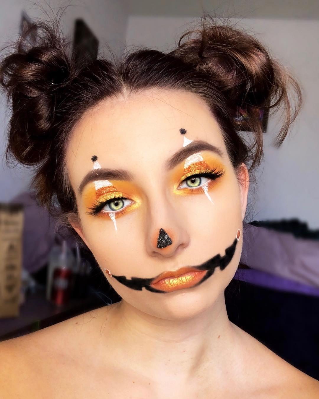 simple pumpkin makeup look
